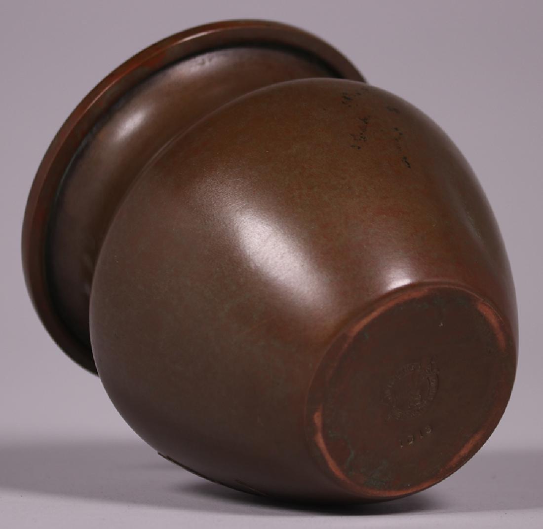 Silvercrest Sterling on Bronze Overlay Vase - 4
