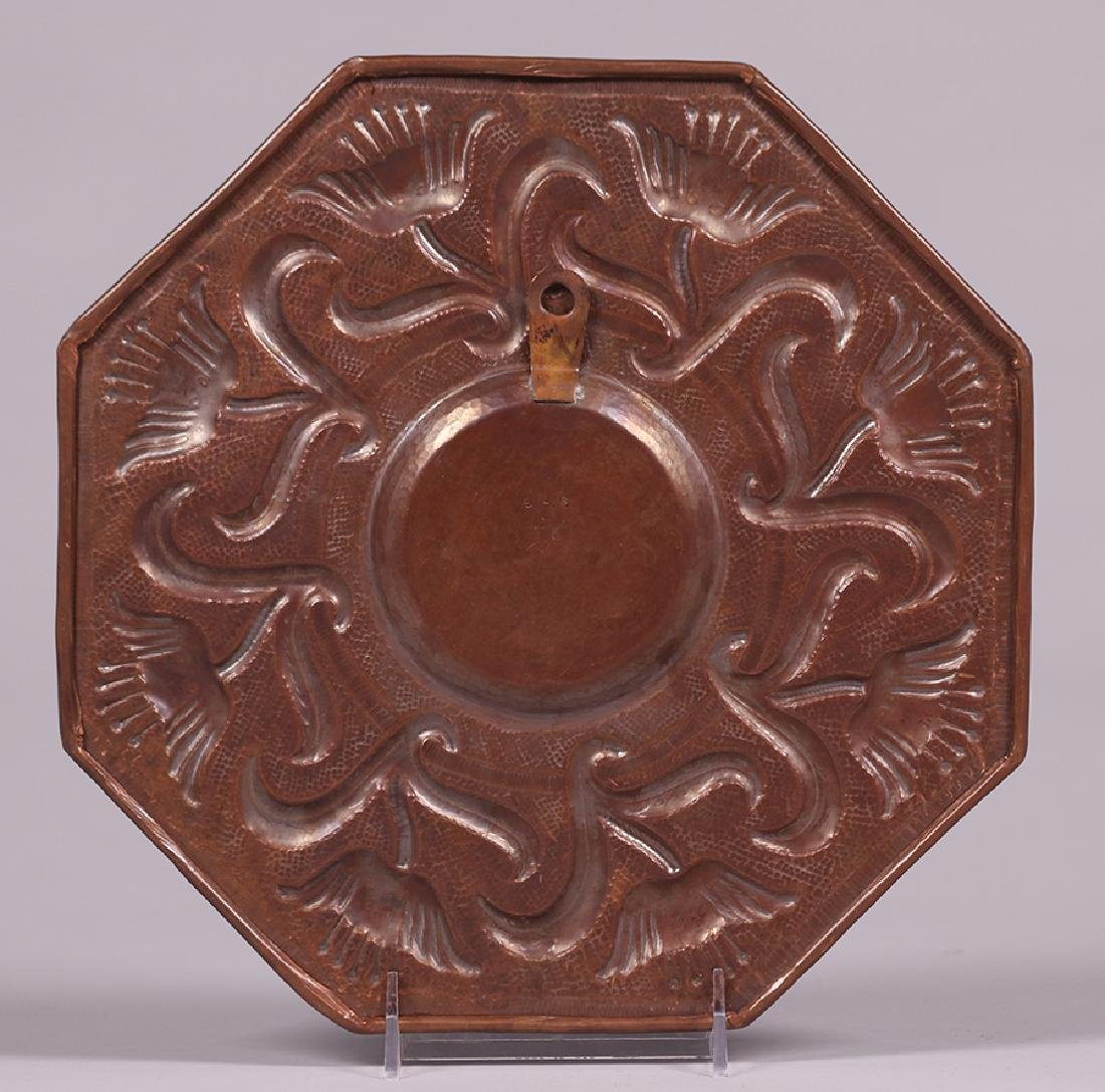 Contemporary Mexican Hammered Copper Repousse Tray - 2