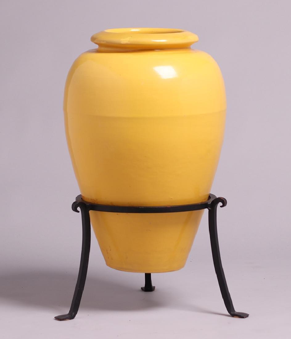 Bauer Yellow Oil Jar