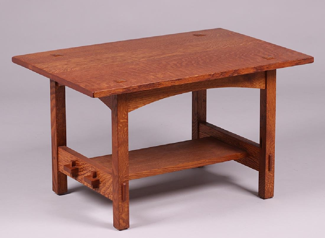 Contemporary Arts & Crafts Oak Coffee Table