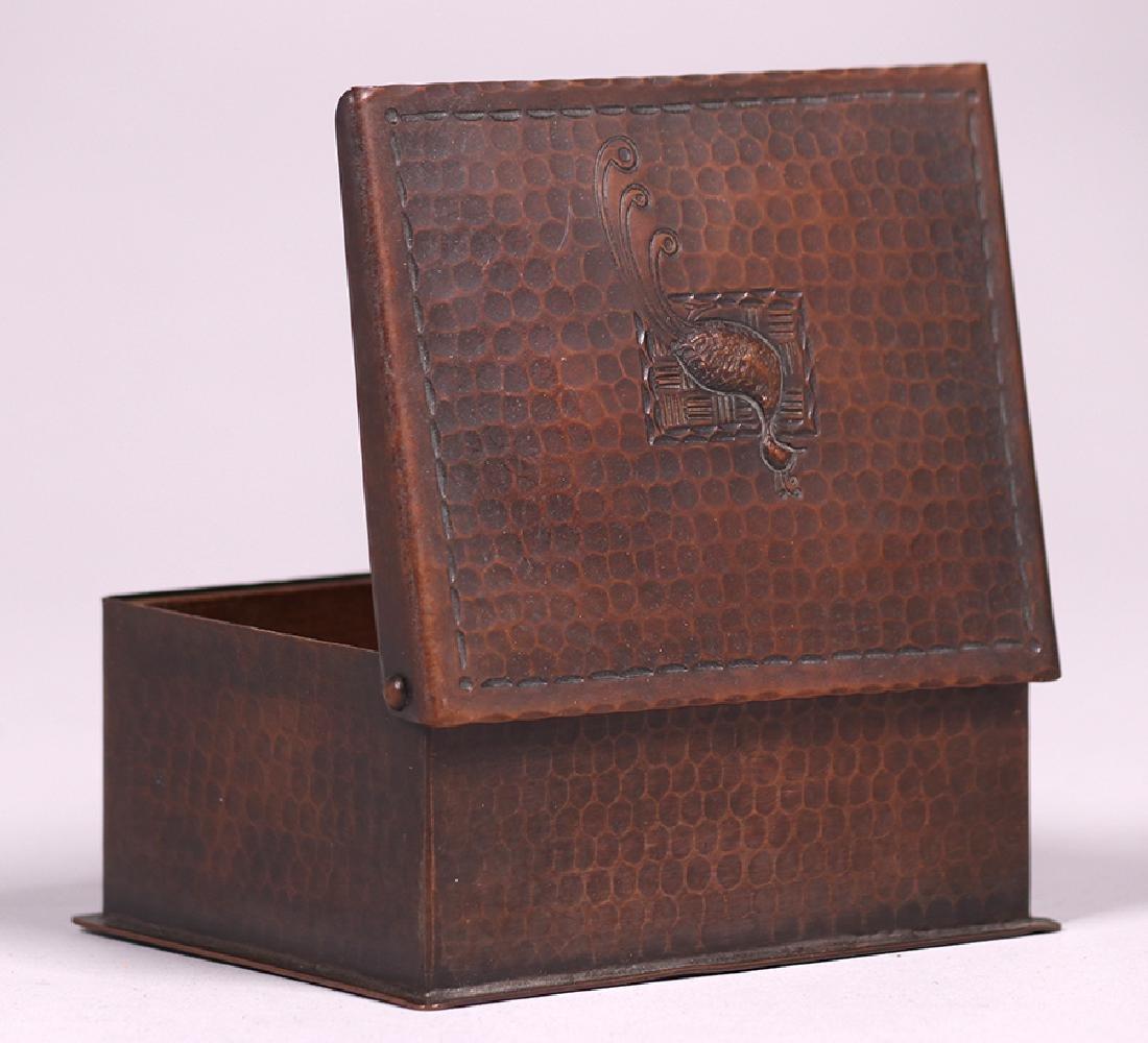 Craftsman Studios Hammered Copper Box - 4