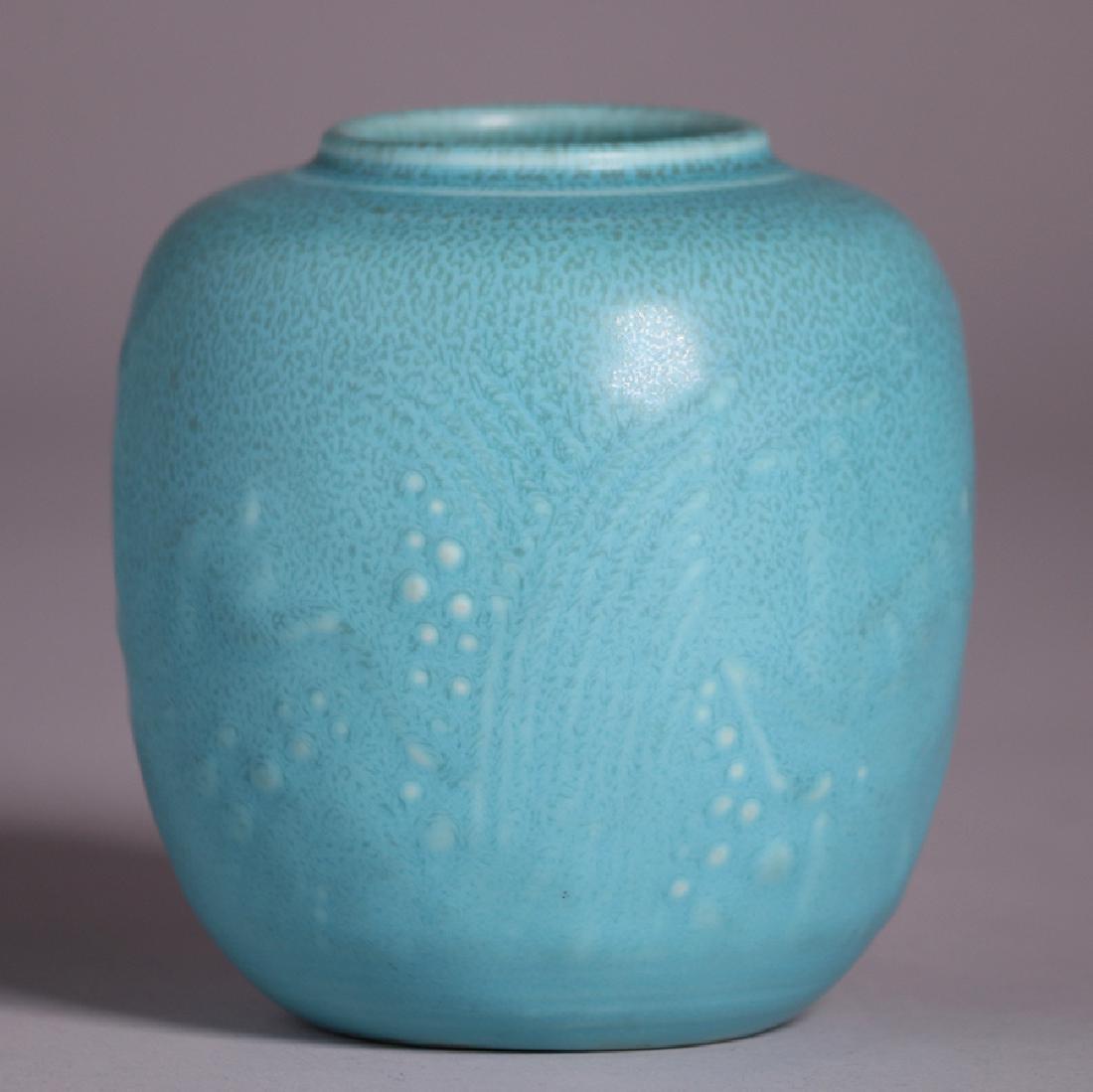 Rookwood Matte Turquoise Vase 1934