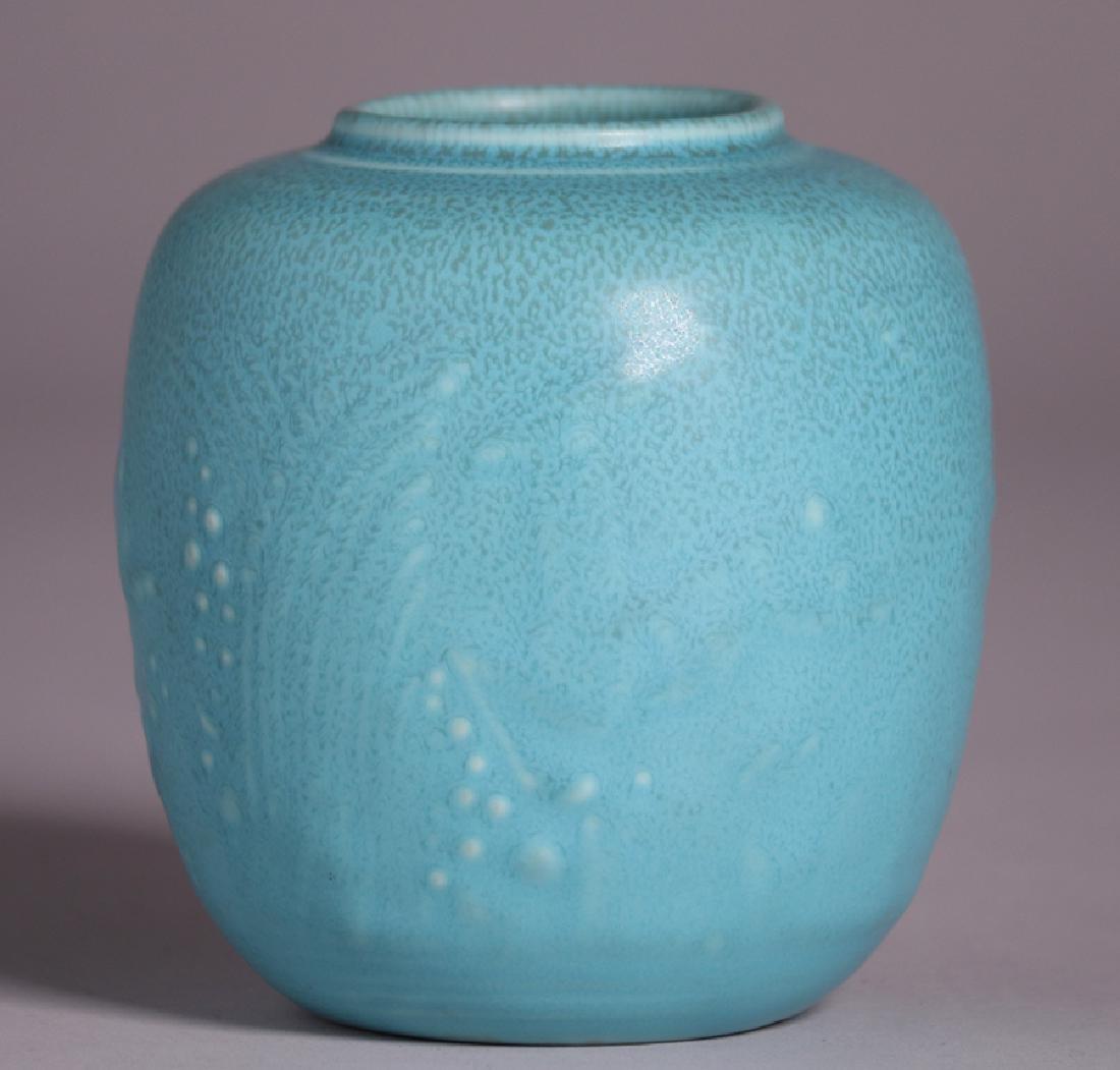 Rookwood Matte Turquoise Vase 1934 - 2