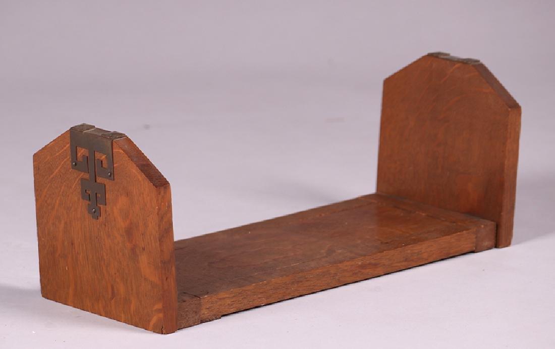 Arts & Crafts Oak Folding Bookrack c1910