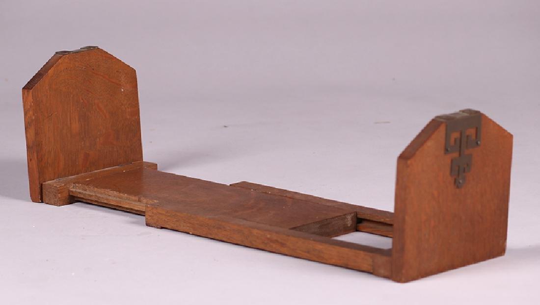 Arts & Crafts Oak Folding Bookrack c1910 - 2