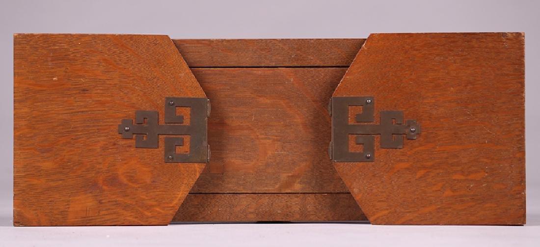 Arts & Crafts Oak Folding Bookrack c1910 - 3