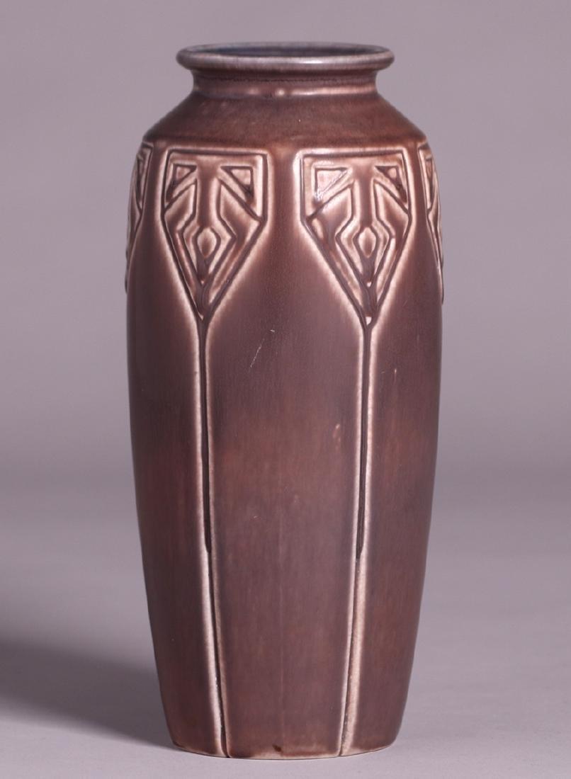 Rookwood Tall Matte Brown Vase 1919