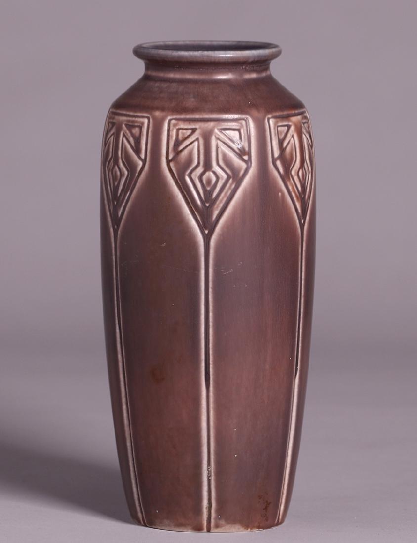 Rookwood Tall Matte Brown Vase 1919 - 2