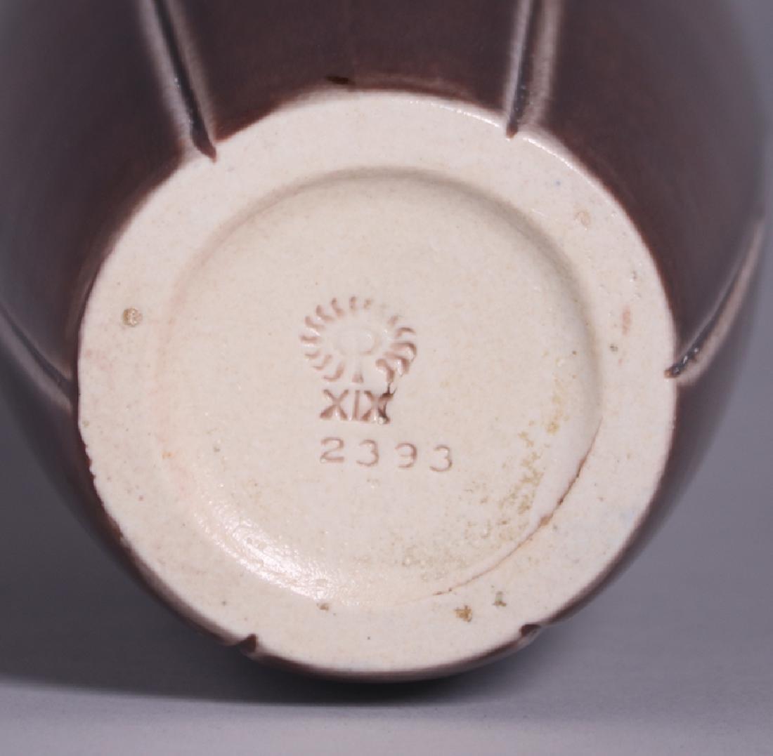 Rookwood Tall Matte Brown Vase 1919 - 4