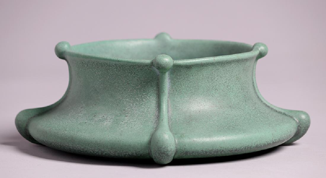 Teco Pottery Art Nouveau Squat Bowl