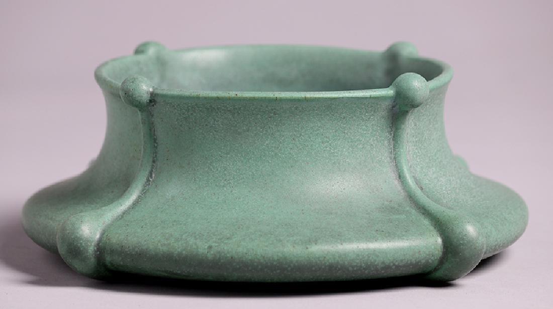 Teco Pottery Art Nouveau Squat Bowl - 2