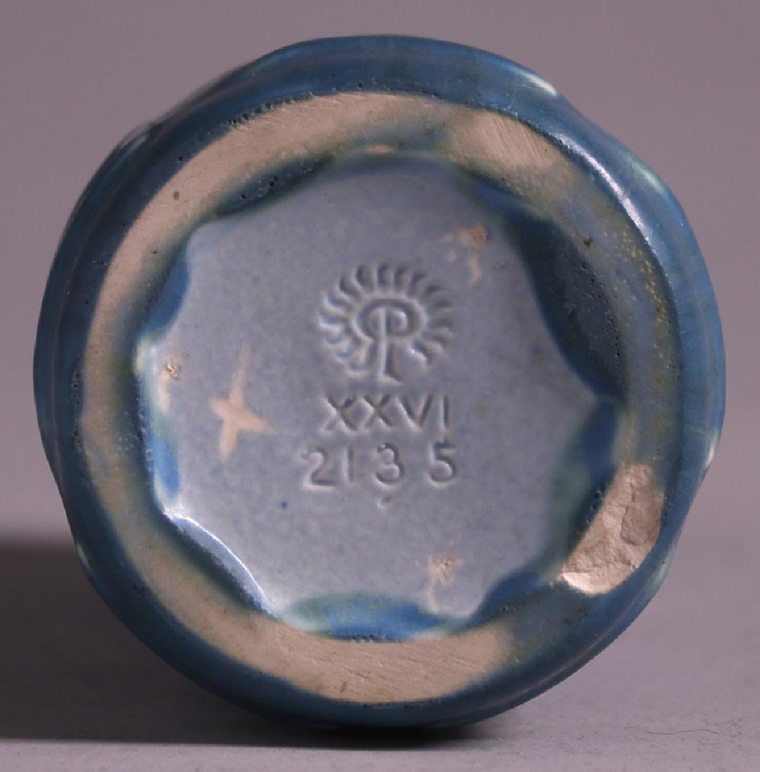 Rookwood Matte Blue Greek Key Vase 1926 - 3