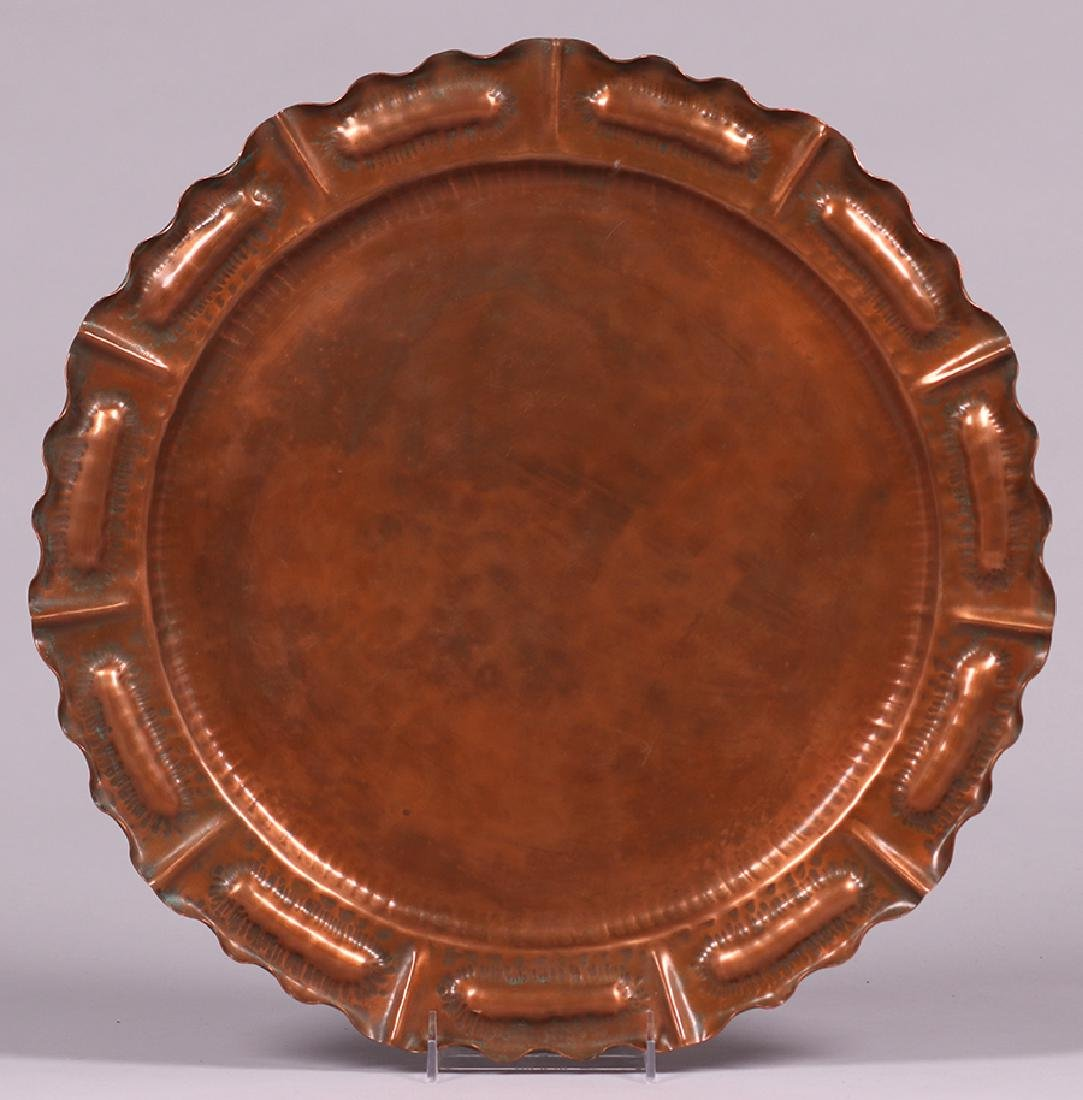 Vermont Hammered Copper Tray c1930s