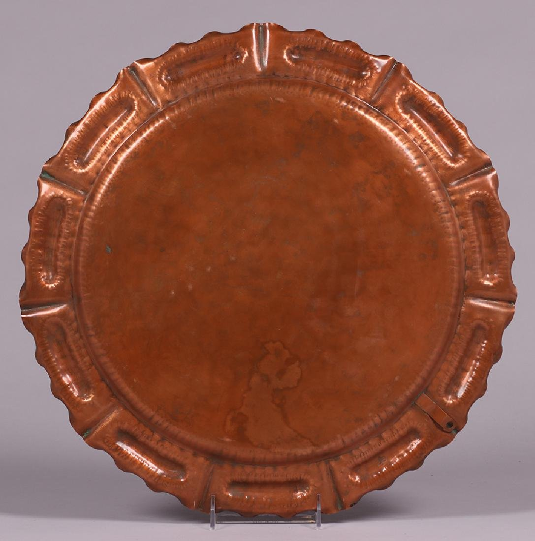 Vermont Hammered Copper Tray c1930s - 2