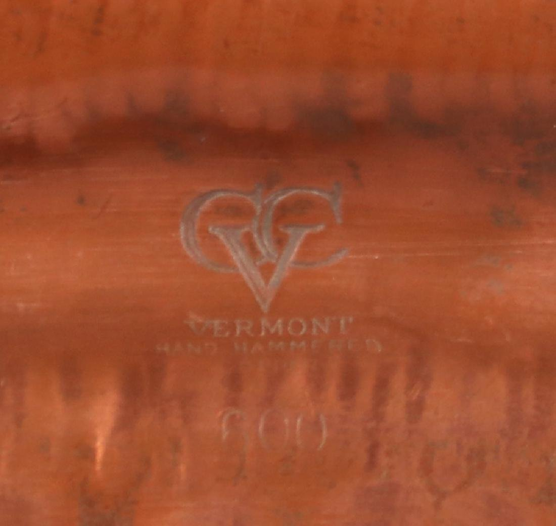 Vermont Hammered Copper Tray c1930s - 3