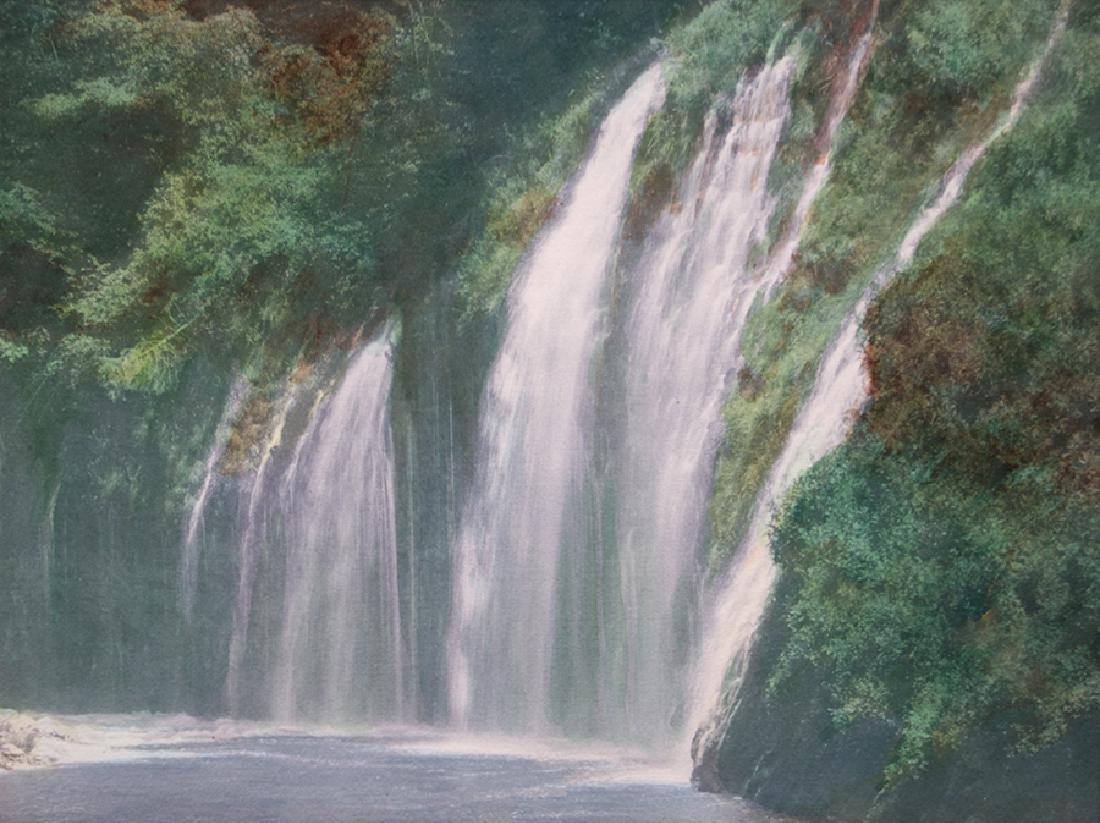 Harold Parker Hand-Tinted Photo Moss Brea Falls c1910