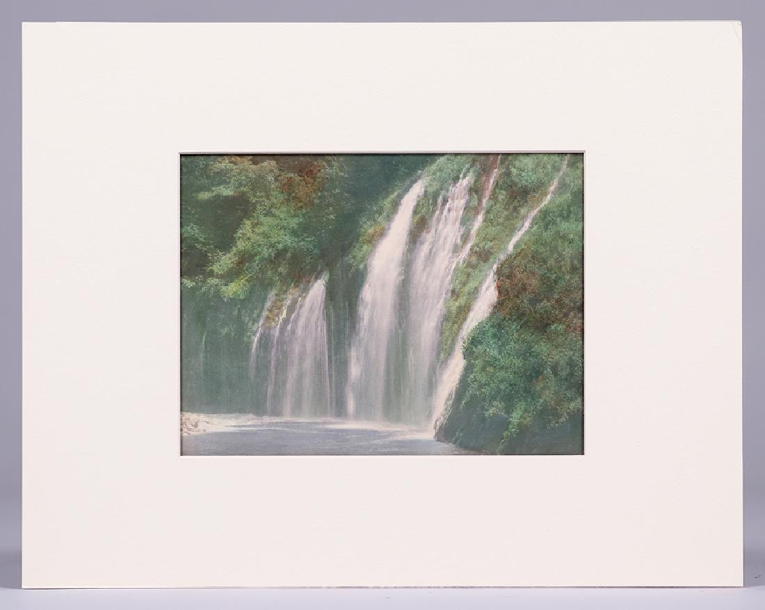 Harold Parker Hand-Tinted Photo Moss Brea Falls c1910 - 2
