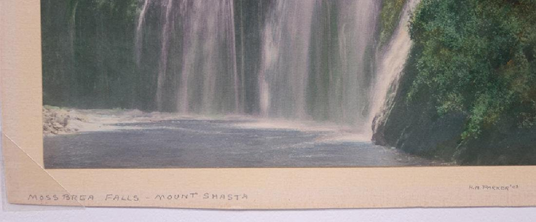 Harold Parker Hand-Tinted Photo Moss Brea Falls c1910 - 3