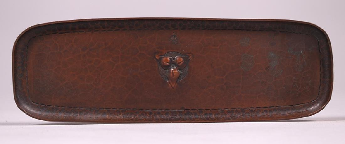 Roycroft Hammered Copper Pen Tray