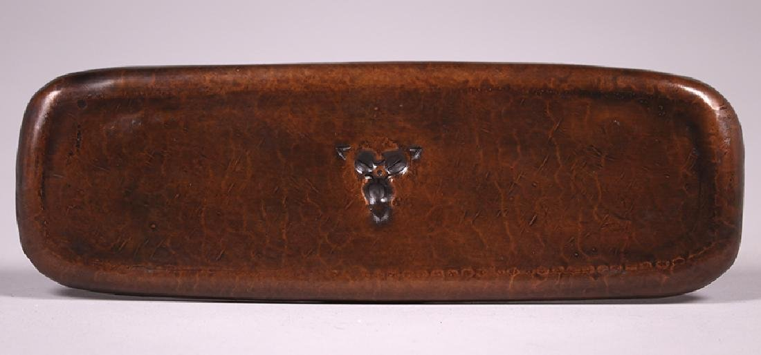 Roycroft Hammered Copper Pen Tray - 2