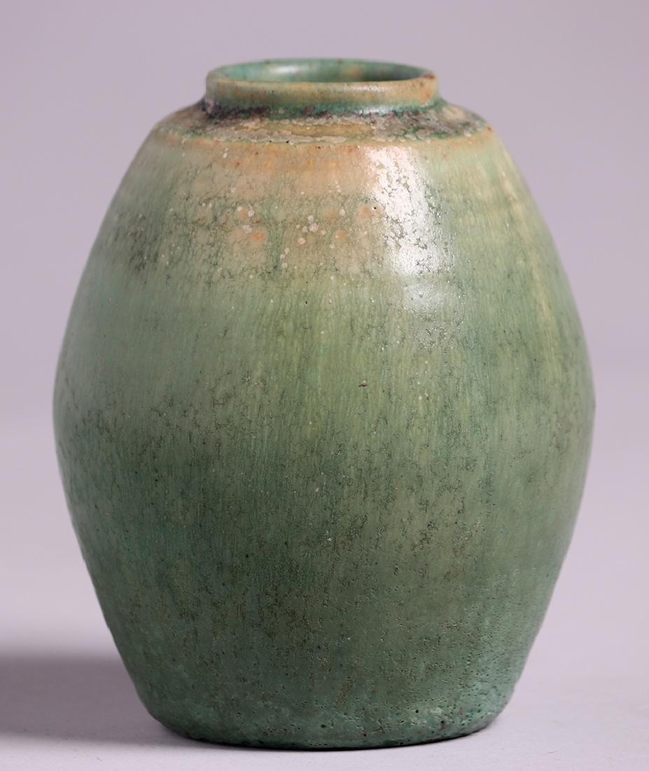 Arne Bang Holmegaard Green Vase c1920s-1930s