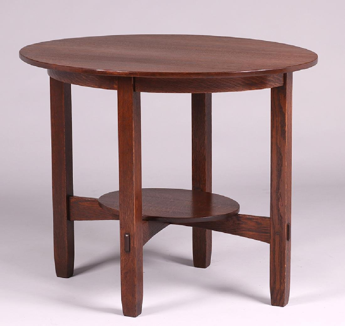 Unusual L&JG Stickley Oval Side Table