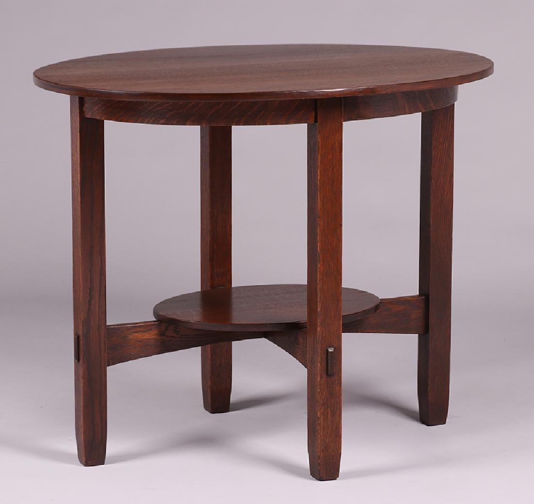 Unusual L&JG Stickley Oval Side Table - 2