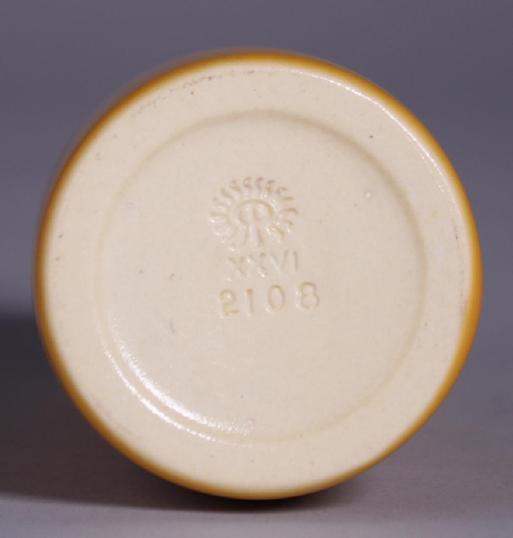 Rookwood Matte Yellow Vase 1926 - 3