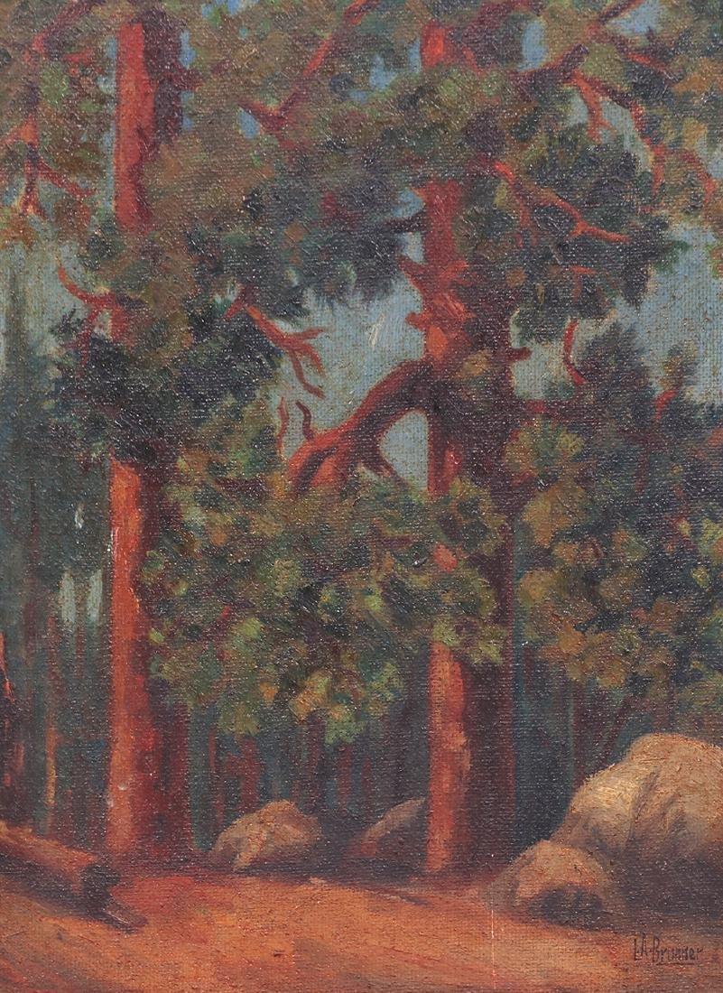 Lawrence Brunner Painting California Ponderosa Pines