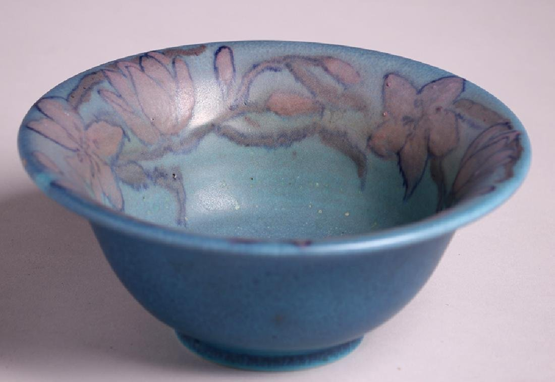 Rookwood Flared Blue Bowl Delia Workum 1927 - 2