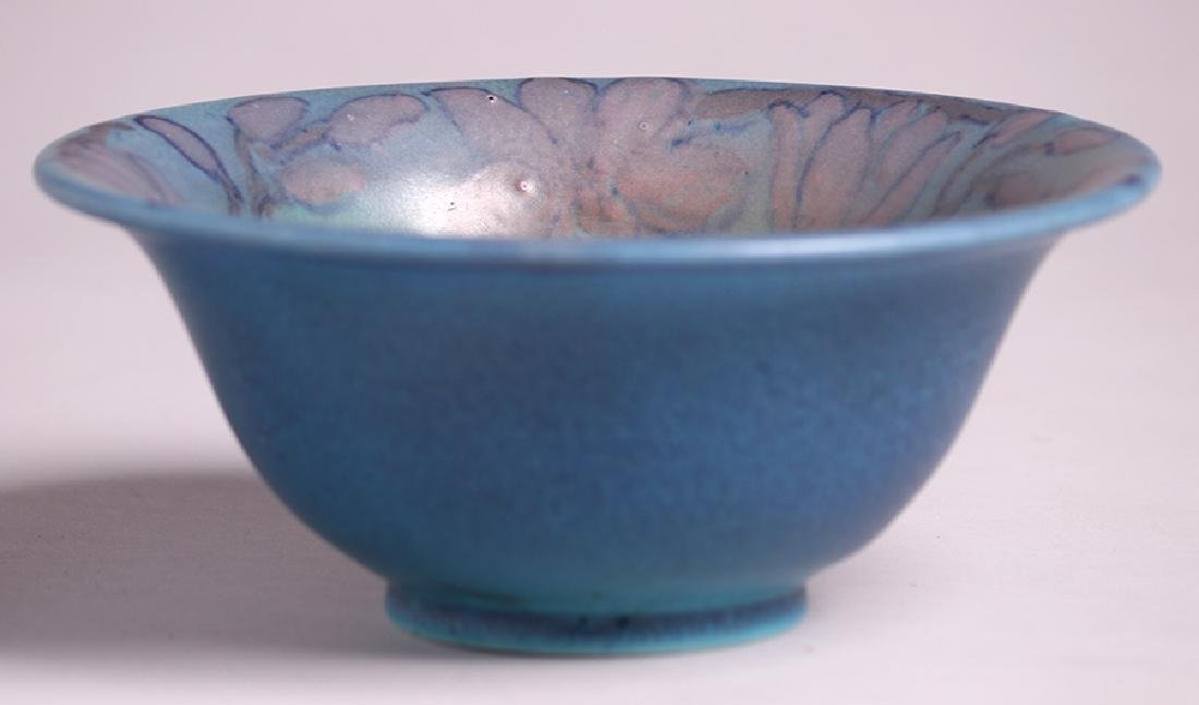 Rookwood Flared Blue Bowl Delia Workum 1927 - 3