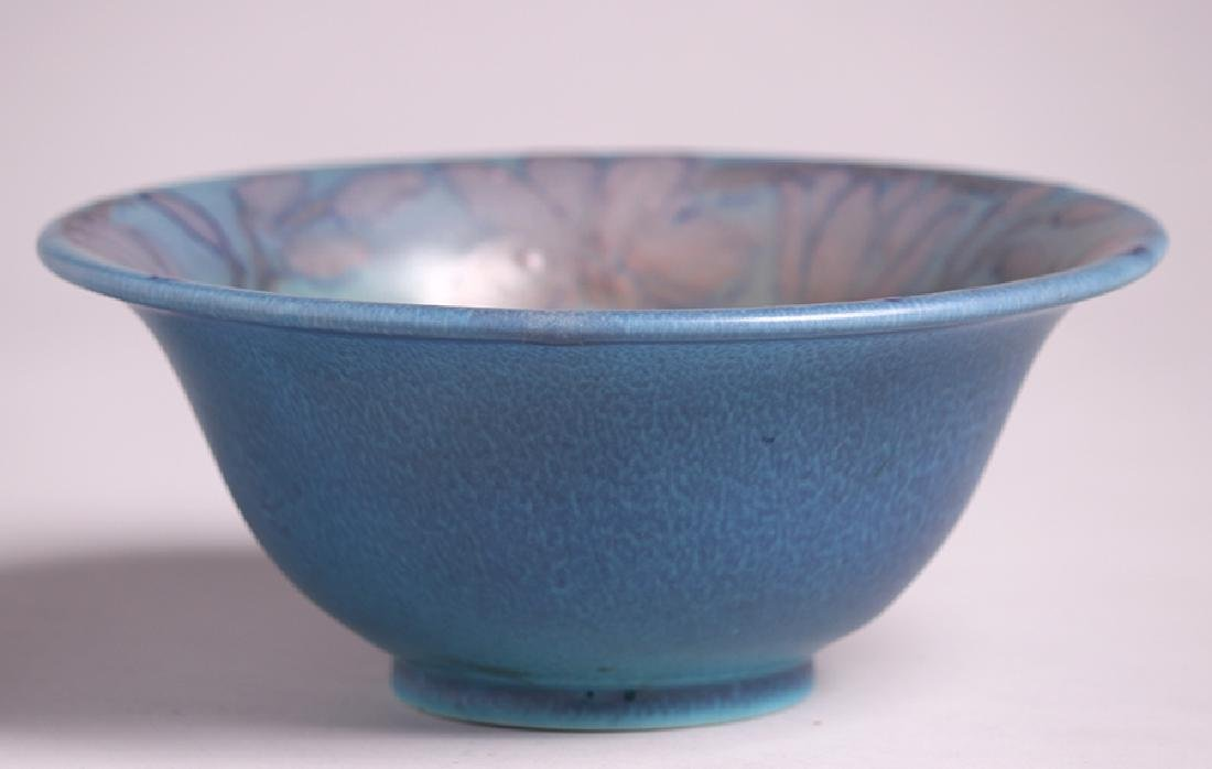 Rookwood Flared Blue Bowl Delia Workum 1927 - 4