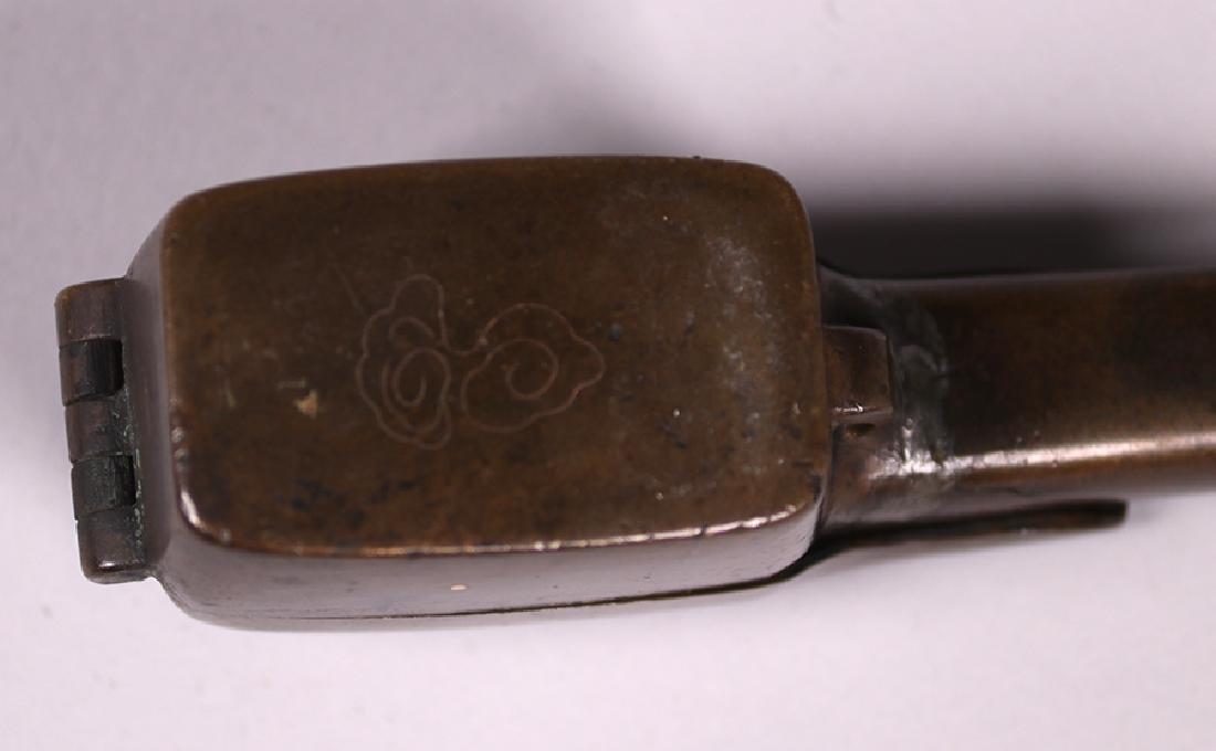 Antique Japanese Bronze Yatate c1900 - 5