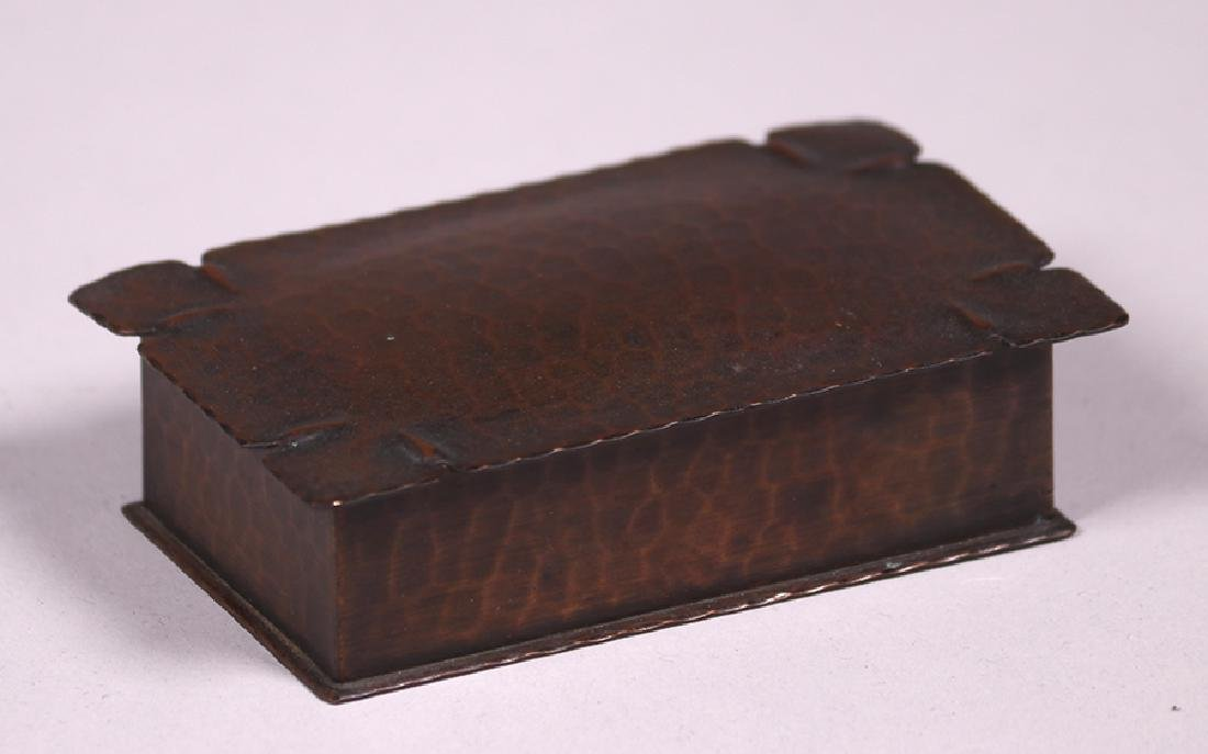 Roycroft Hammered Copper Stamp Box