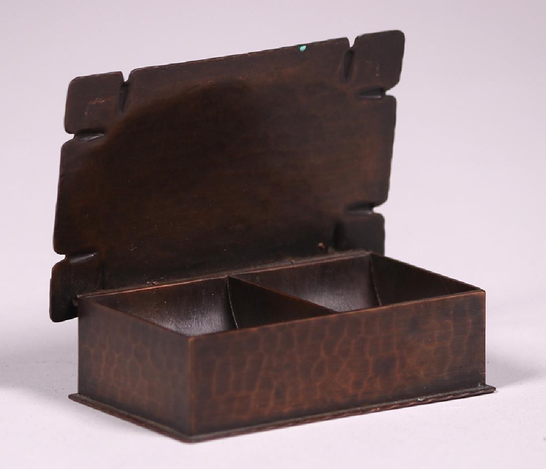 Roycroft Hammered Copper Stamp Box - 2