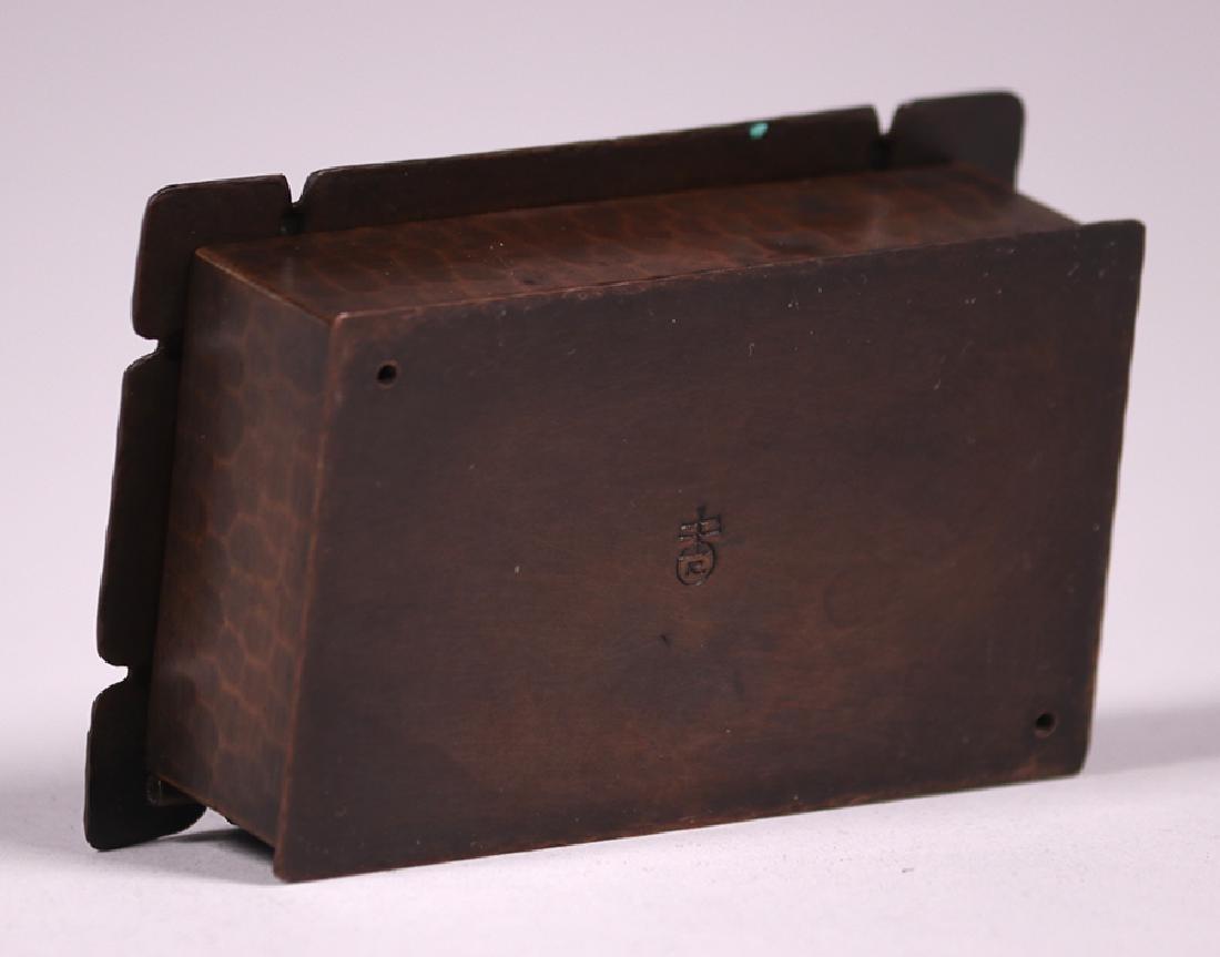 Roycroft Hammered Copper Stamp Box - 5