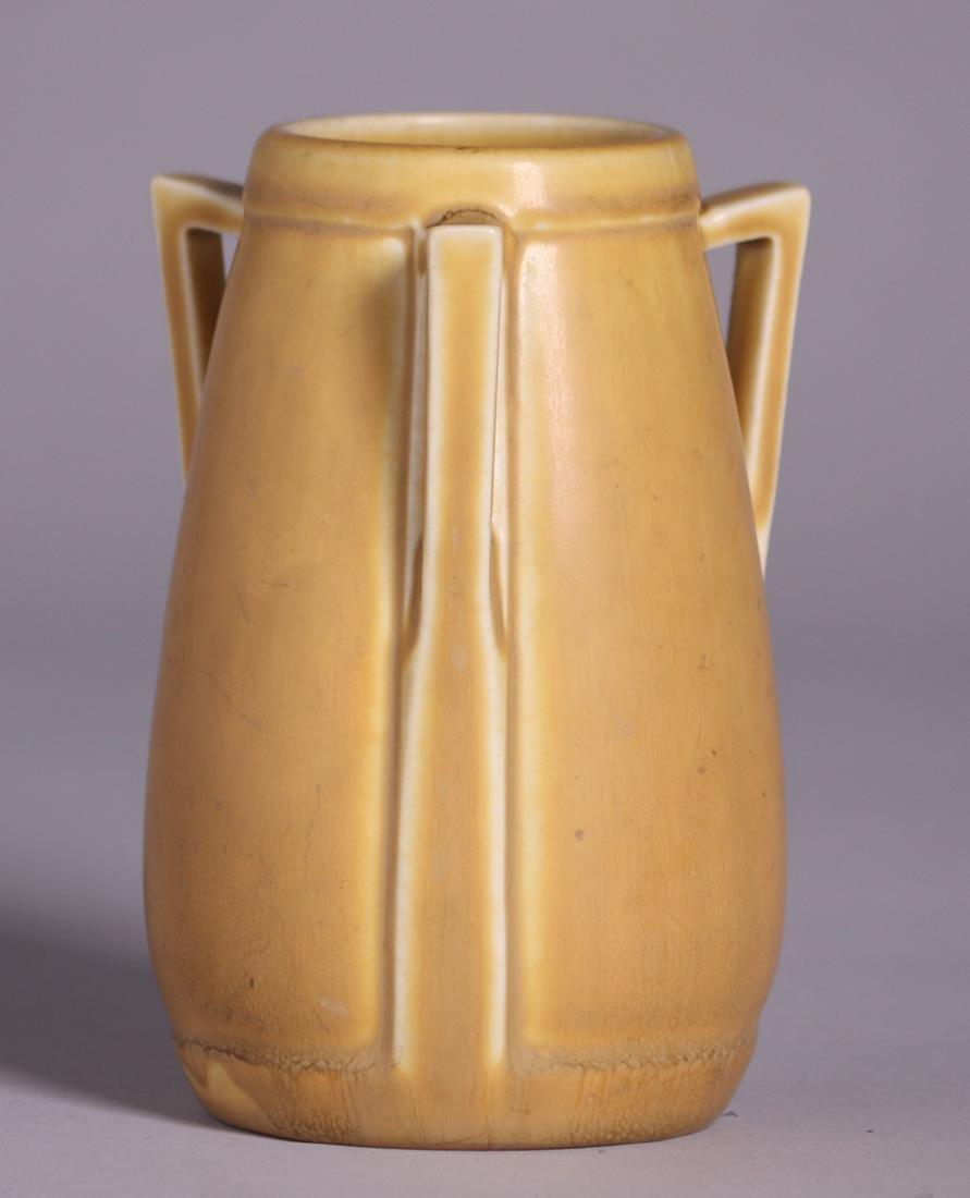 Rookwood Matte Yellow Three-Handled Vase 1927