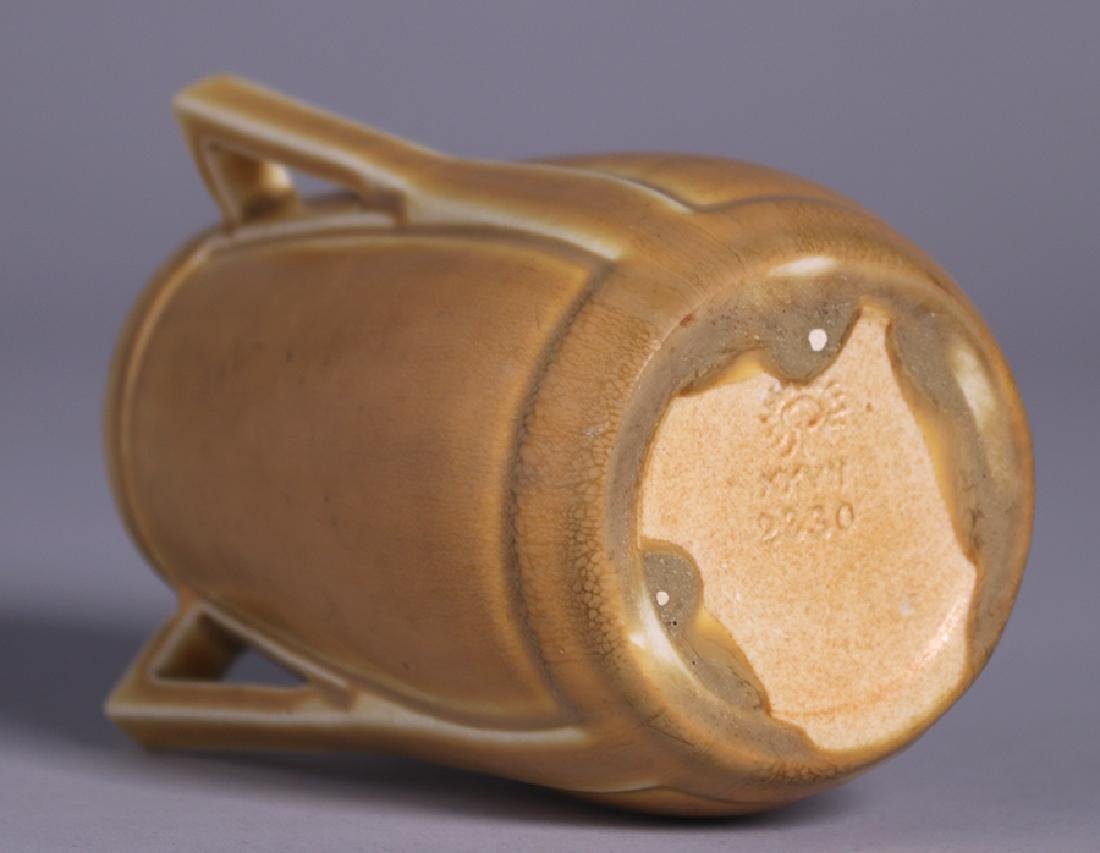 Rookwood Matte Yellow Three-Handled Vase 1927 - 3