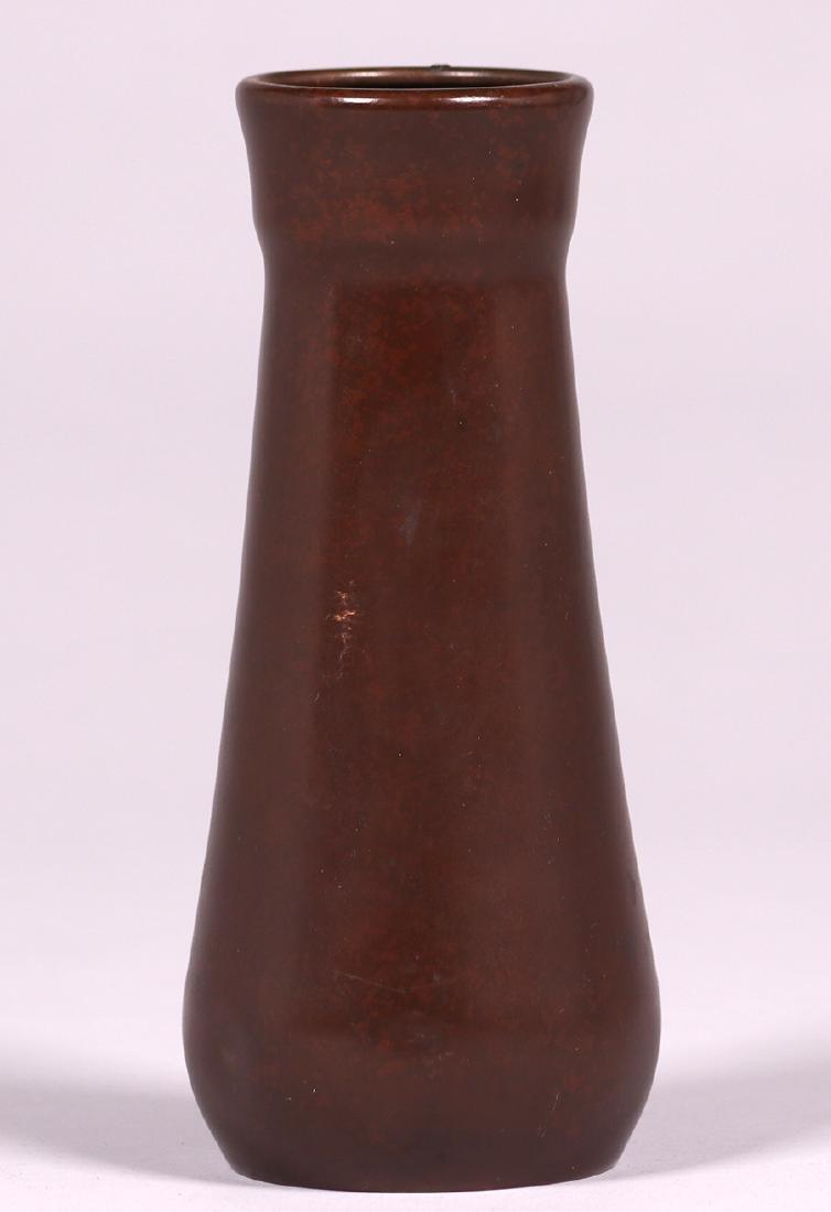 Heintz Sterling on Bronze Floral Overlay Vase - 2