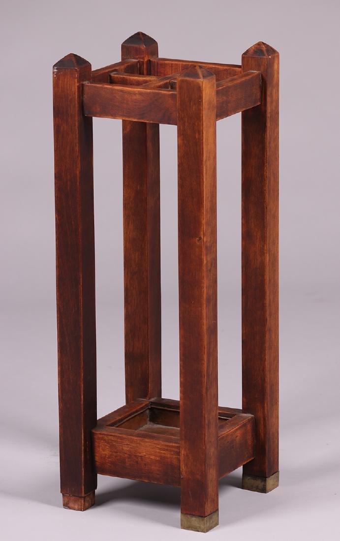 Arts & Crafts Maple Umbrella Stand c1910