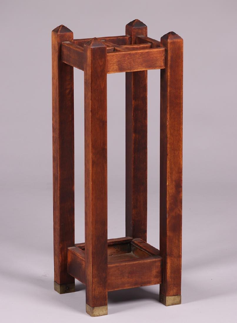 Arts & Crafts Maple Umbrella Stand c1910 - 2