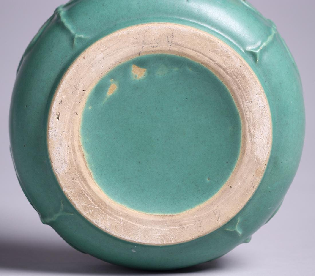 Arts & Crafts Matte Green Dragonfly Bowl - 3