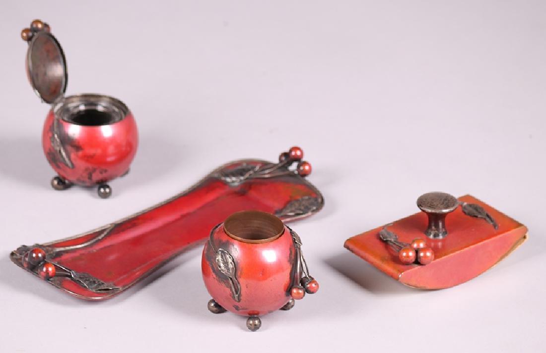 La Pierre Copper & Silver Desk Set c1905 - 2