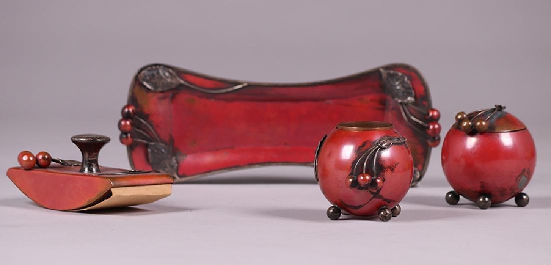 La Pierre Copper & Silver Desk Set c1905 - 3