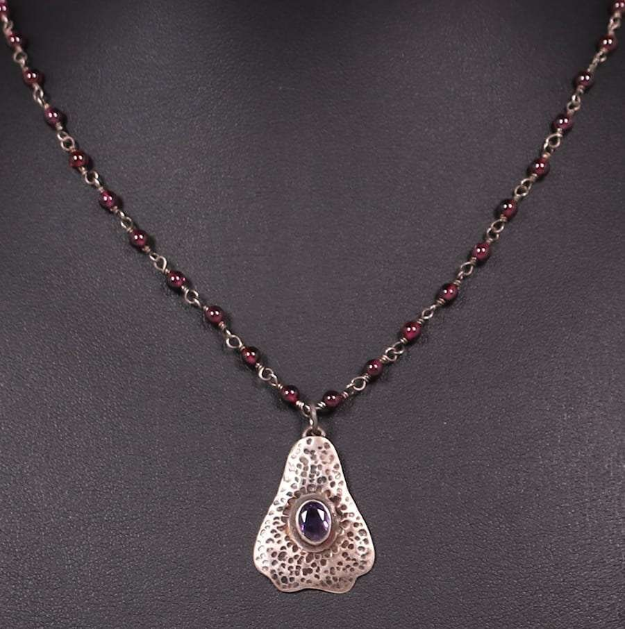 Arts & Crafts Sterling Silver Amethyst Necklace c1910 - 2