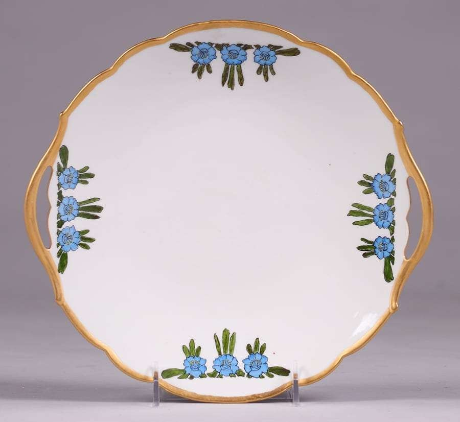 Lucille Newton Hand Decorated Porcelain Platter 1918