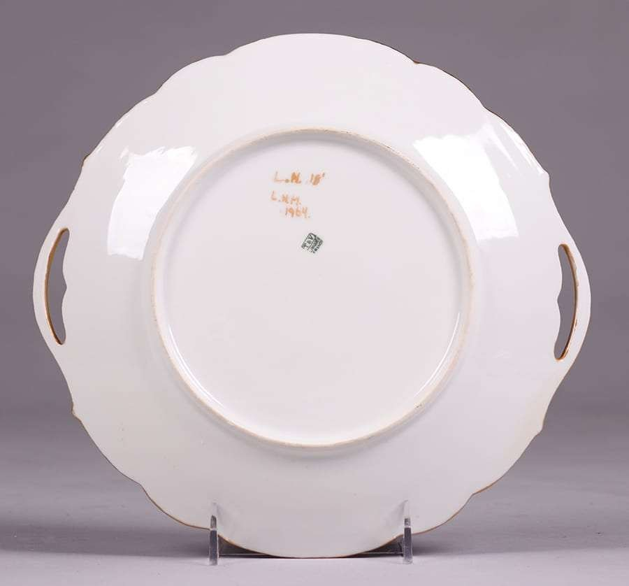 Lucille Newton Hand Decorated Porcelain Platter 1918 - 2