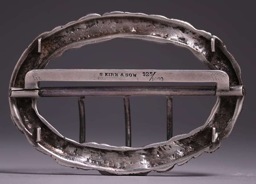 S. Kirk & Sons Sterling Silver Belt Buckle c1910 - 2