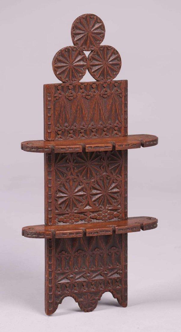 European Arts & Crafts Gothic Pipe Rack c1900