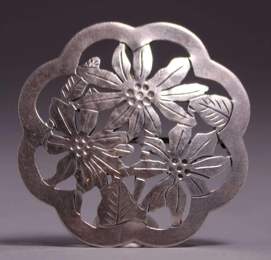Gregor Panis Boston Society A&C Sterling Silver Brooch